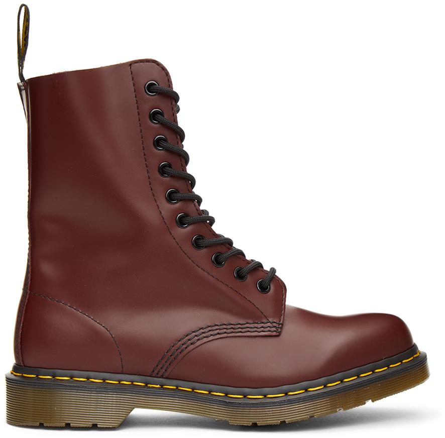 Dr. Martens 红色 1490 中筒靴