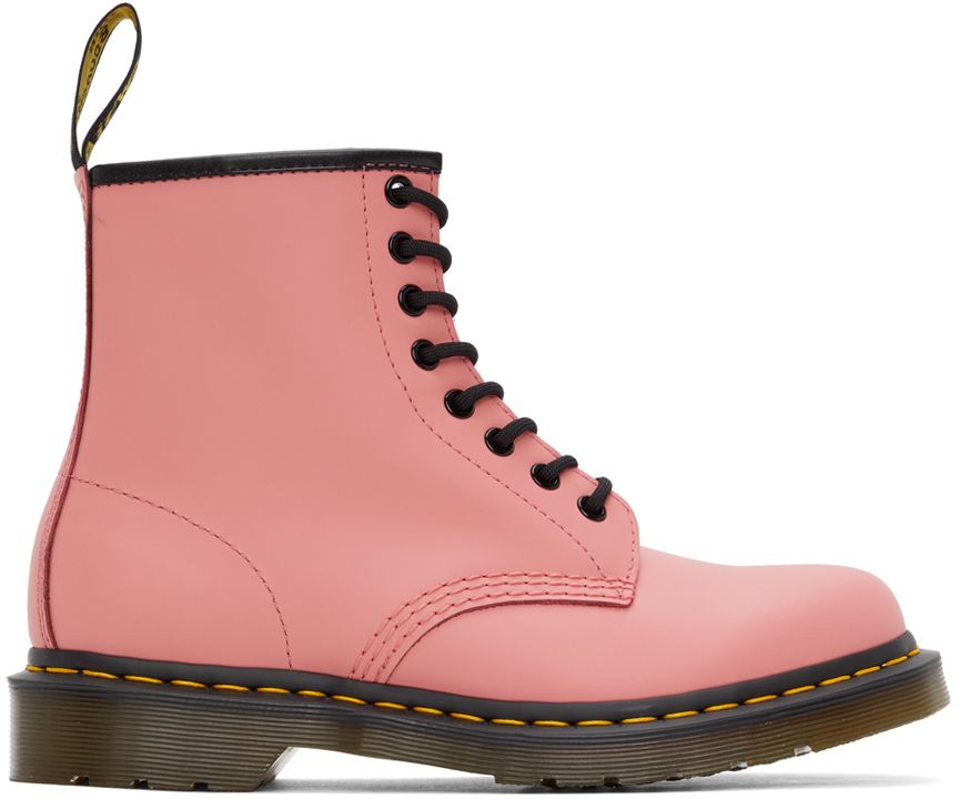 Dr. Martens 粉色 Smooth 1460 踝靴