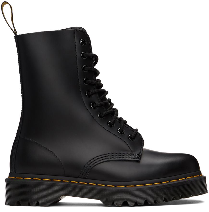 Dr. Martens 黑色 1490 Smooth Bex 中筒靴