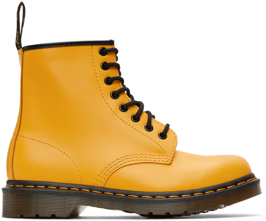 Dr. Martens 黄色 1460 踝靴