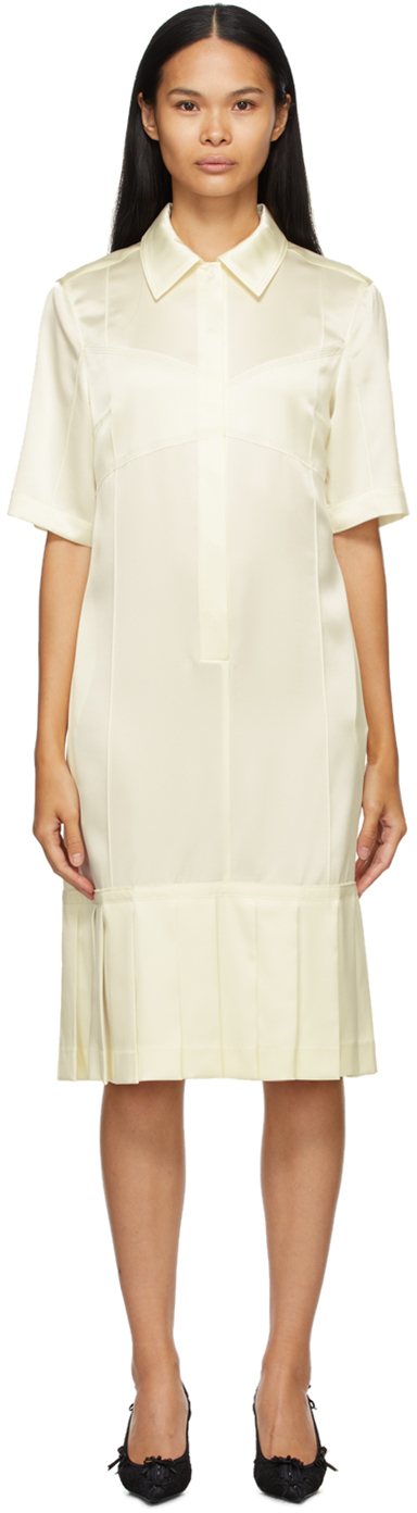 SSENSE Exclusive Off-White Bralette Shirt Dress