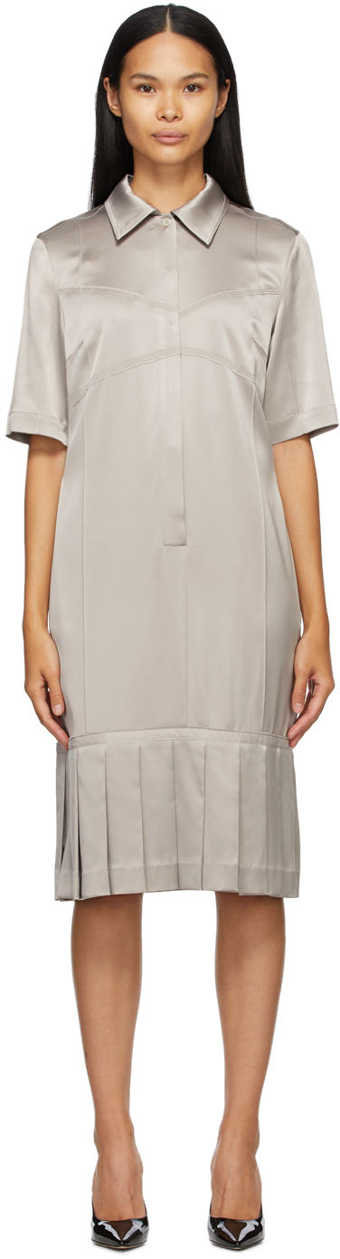 SSENSE Exclusive Taupe Bralette Shirt Dress