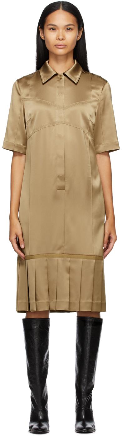 SSENSE Exclusive Tan Bralette Shirt Dress
