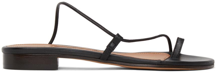 Black Susan Slide Sandals