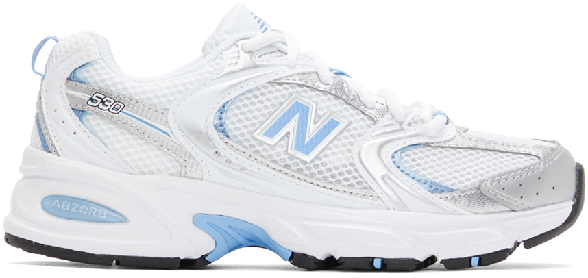 White & Blue 530 Sneakers