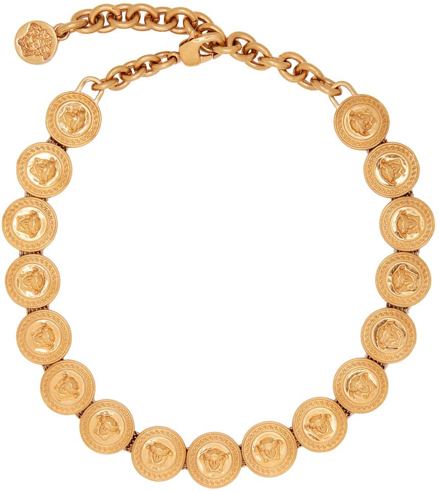 Gold Medusa Medallion Choker