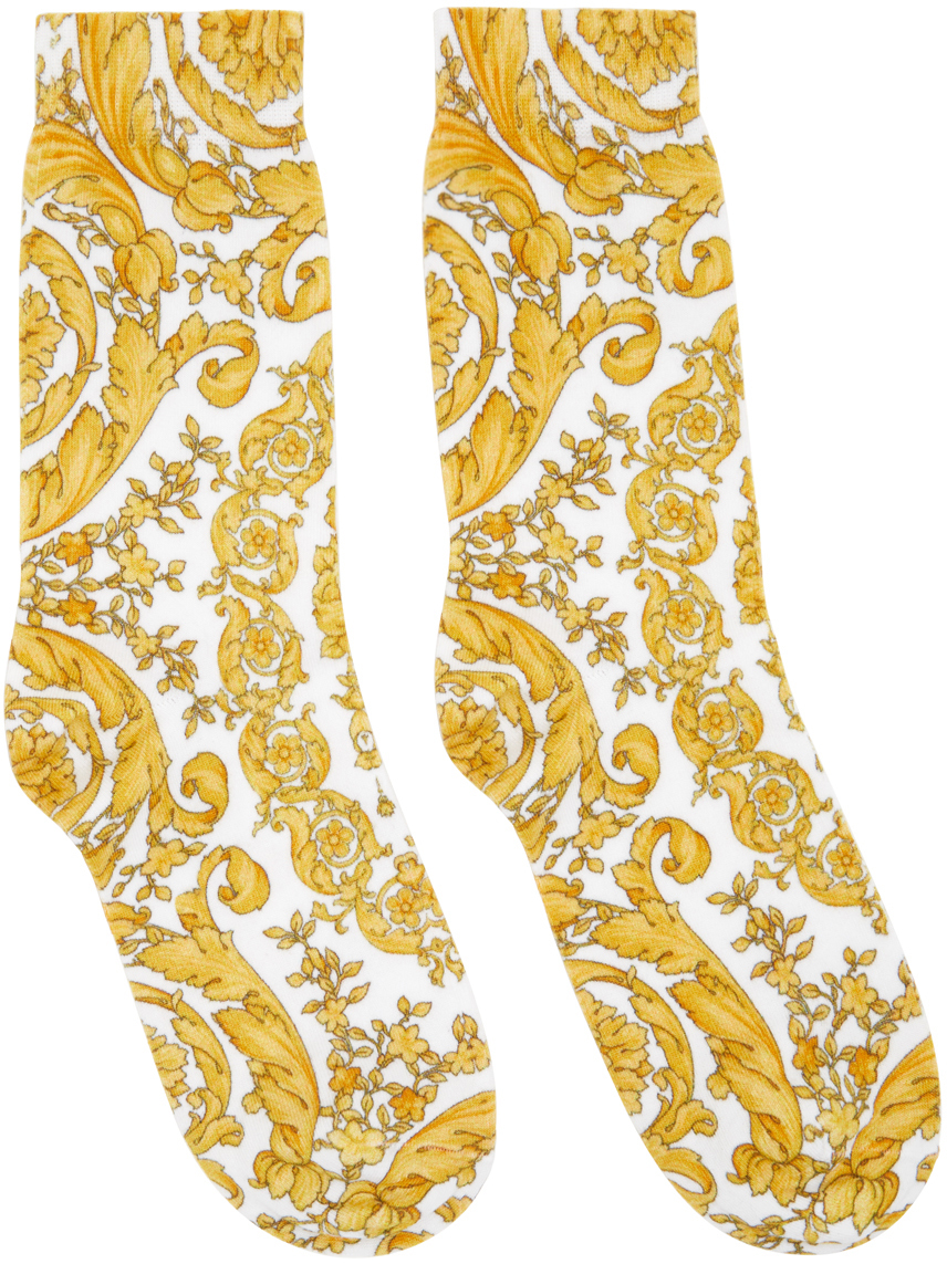 White Barocco Socks