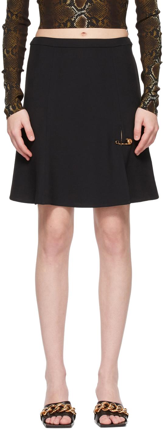 SSENSE Exclusive Black Safety Pin Miniskirt