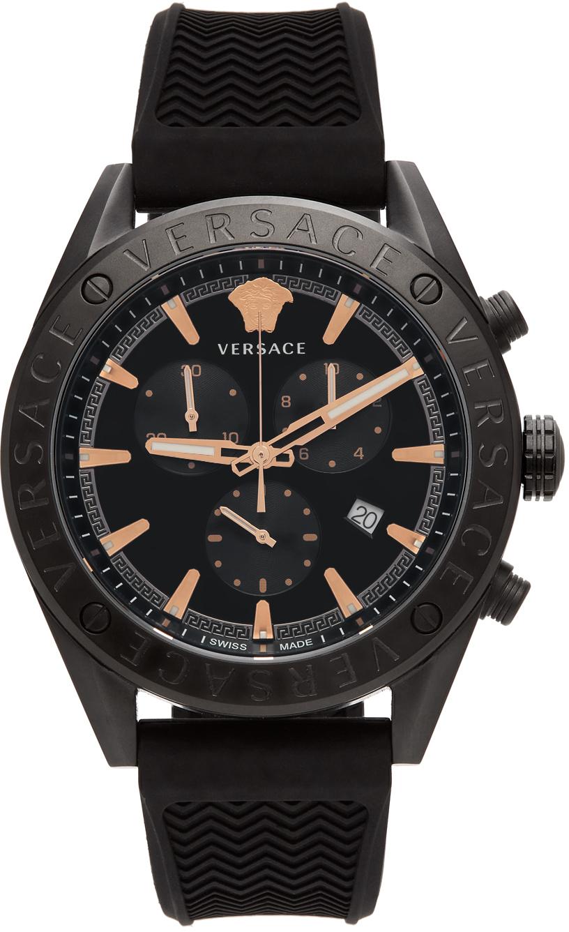 Versace Black V-Chrono Watch