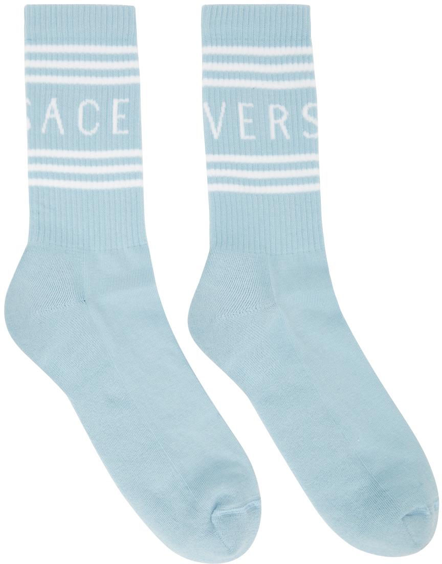 Blue & White Logo Socks
