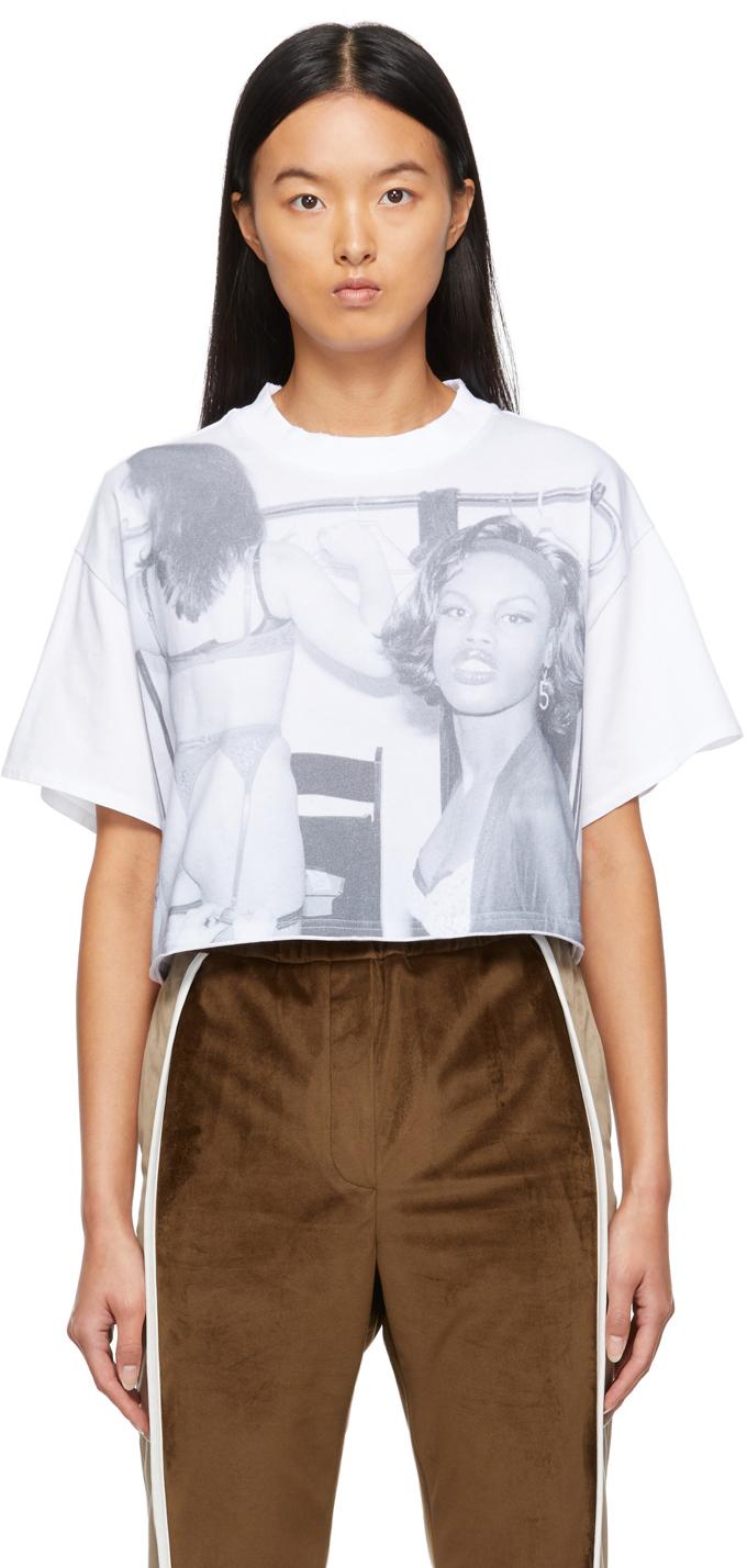 White Cropped Tina Paul T-Shirt