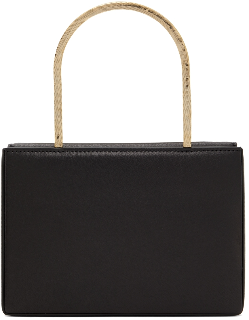 Amina Muaddi Black & Gold Amini Henson Bag