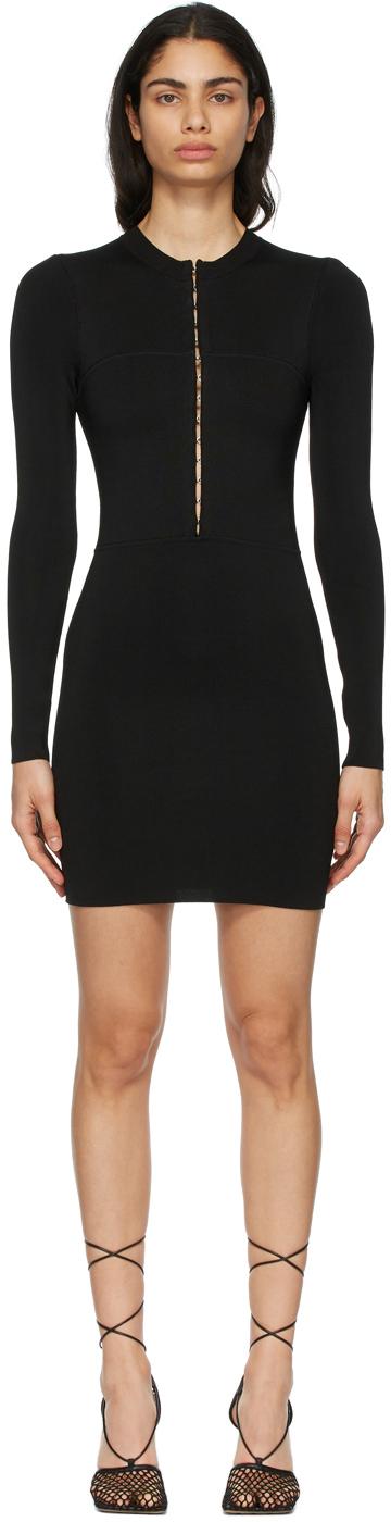 Black Open Neck Mini Dress