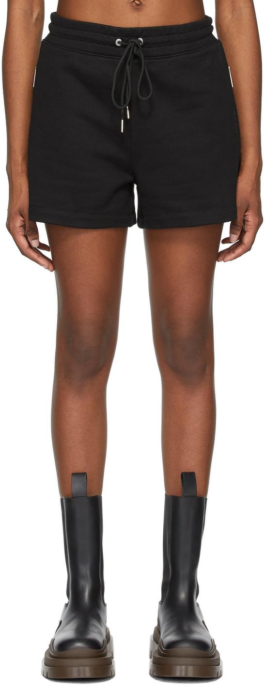 Black Terry Boxer Shorts