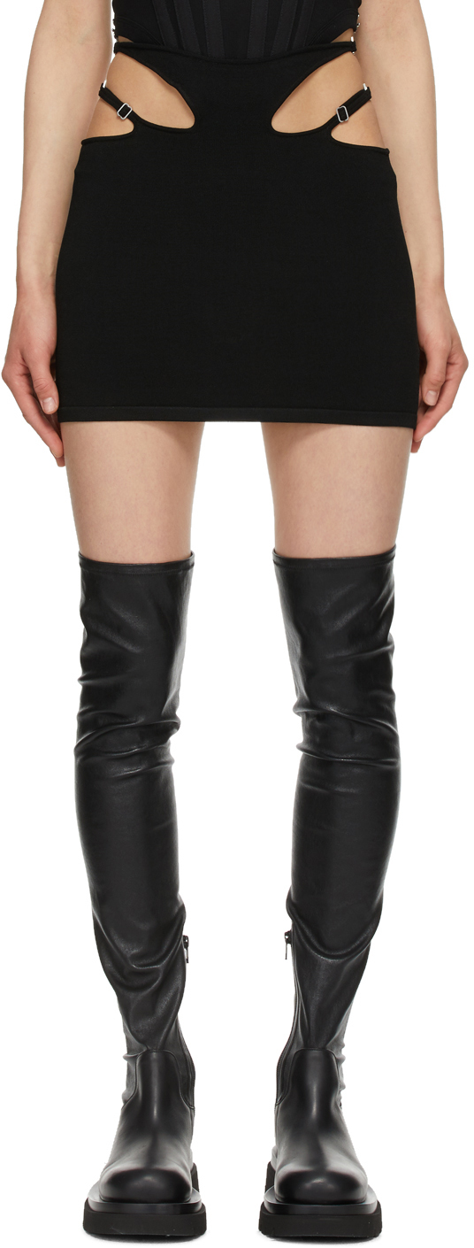 Black Hosiery Teardrop Skirt
