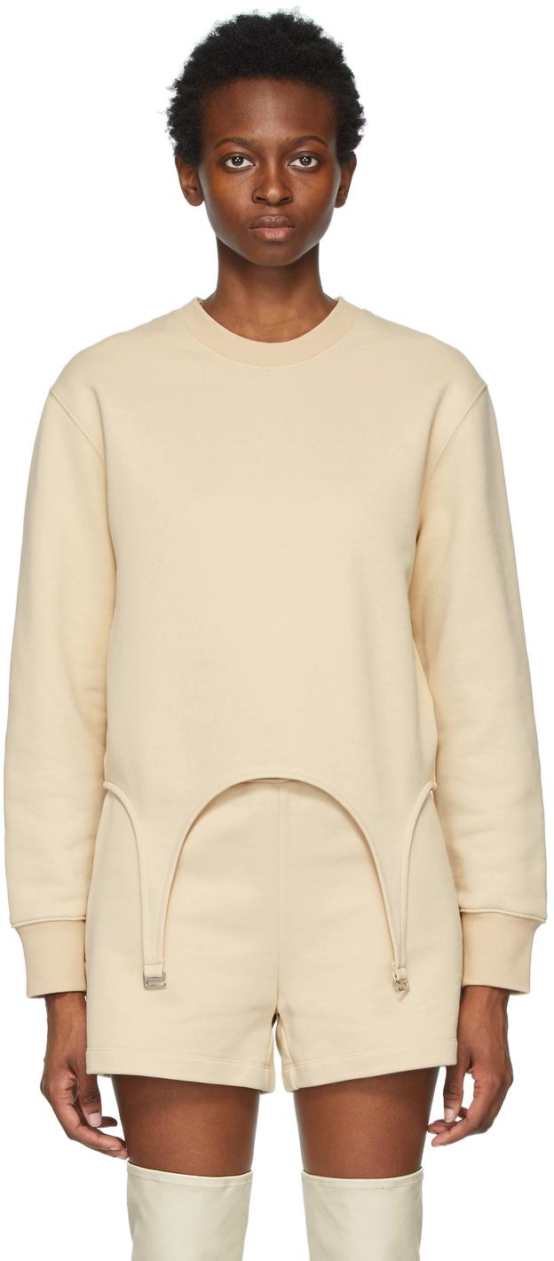 Beige Garter Sweatshirt