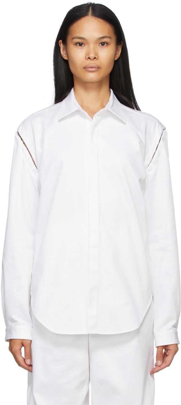 White Detach Hook Shirt