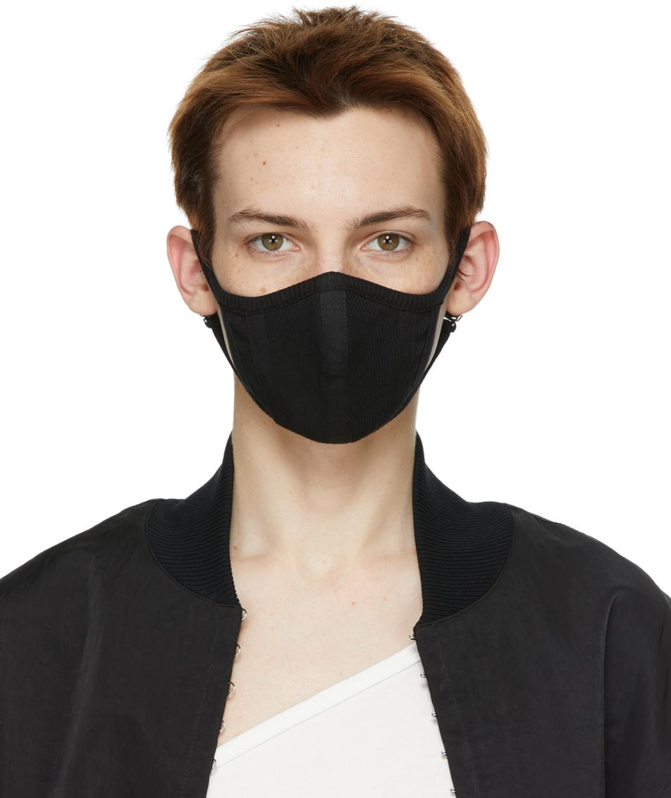 Black Rib Face Mask