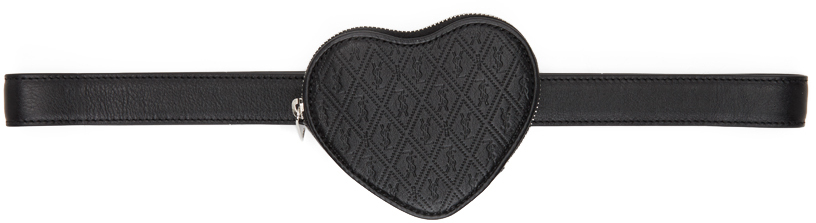 Black Logo Heart Belt Bag