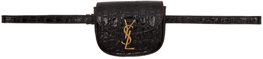 Black Croc Kaia Belt Bag