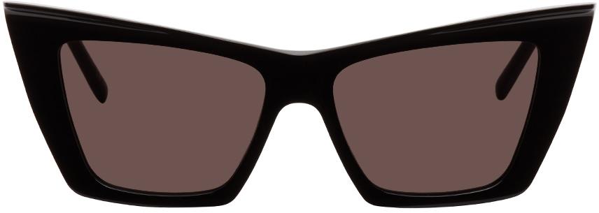 Saint Laurent Black Sl 372 Sunglasses In 001 Black
