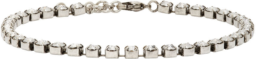 Silver Smoking Crystal Anklet