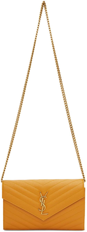 Yellow Monogramme Chain Wallet Bag