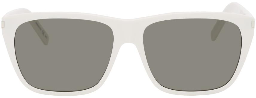 White SL 431 Slim Square Sunglasses