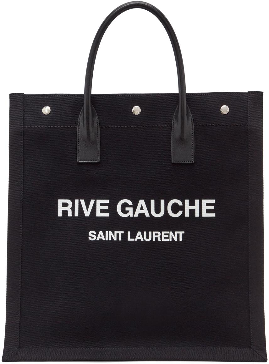 Black 'Rive Gauche' Shopping Tote