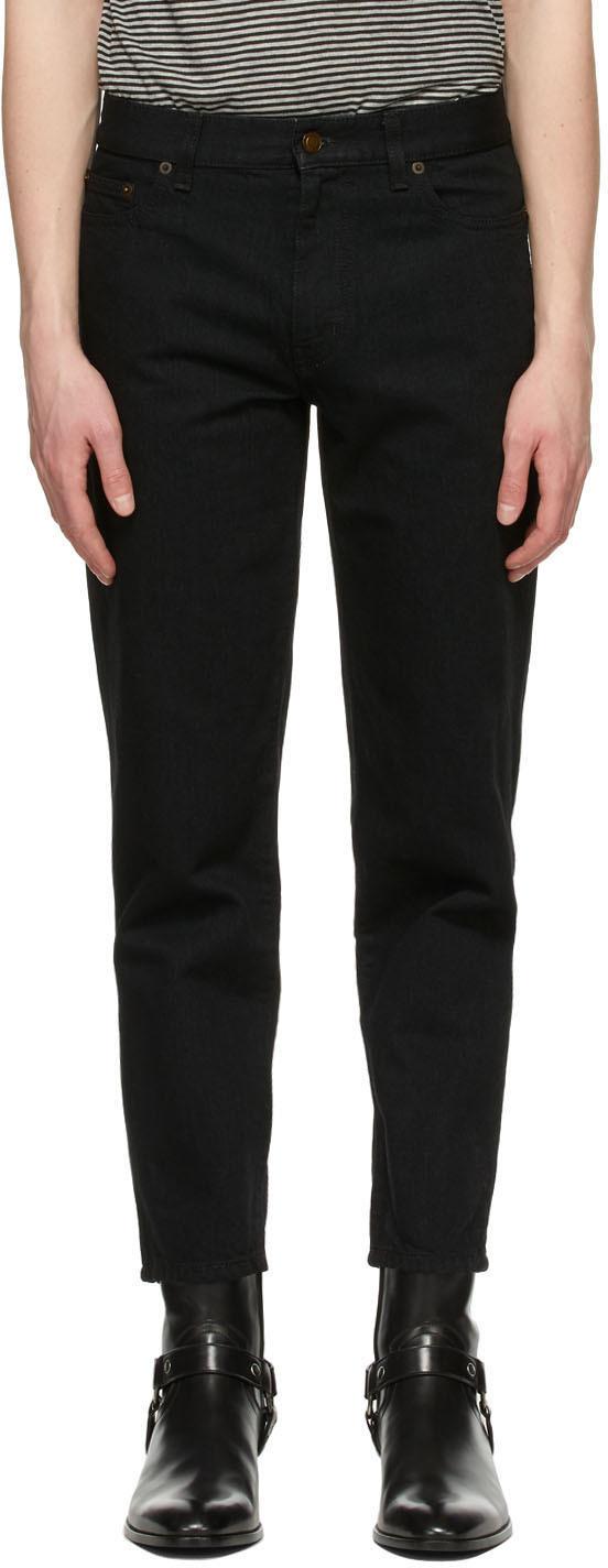 Saint Laurent 黑色 Carrot Fit 牛仔裤