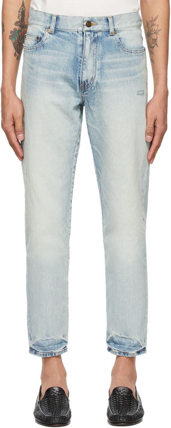 Saint Laurent 蓝色 Carrot-Fit 牛仔裤