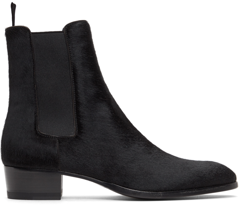Saint Laurent 黑色 Wyatt 切尔西靴