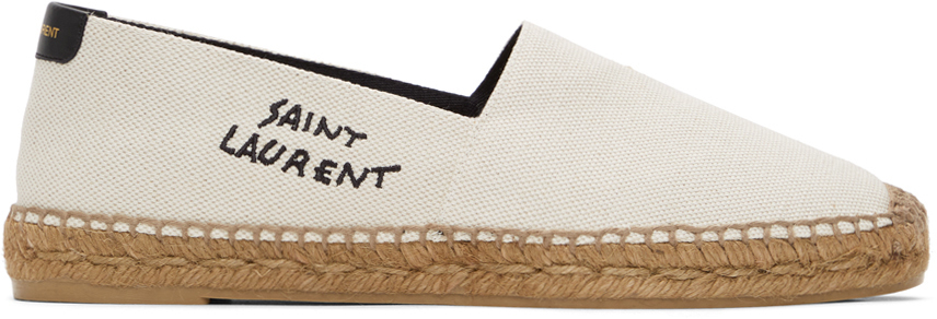 Off-White Embroidered Espadrilles