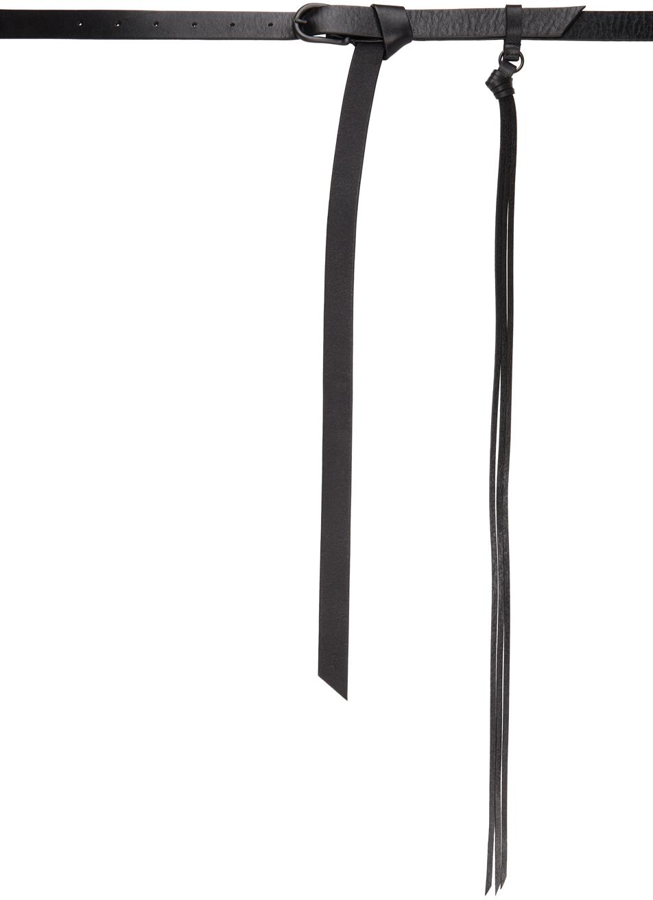Black Leather Long Belt