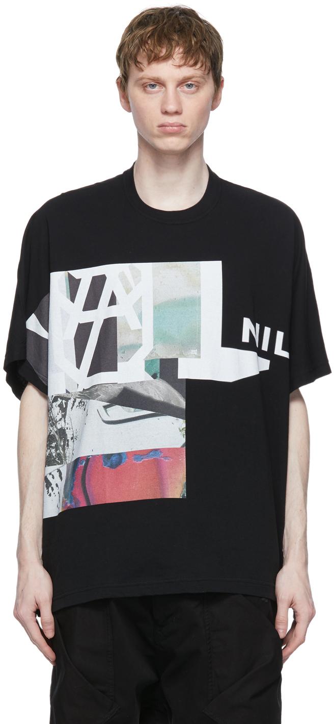 Julius 黑色 Jersey Large Print T 恤