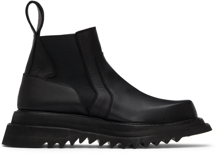 Black Side Gore Chelsea Boots