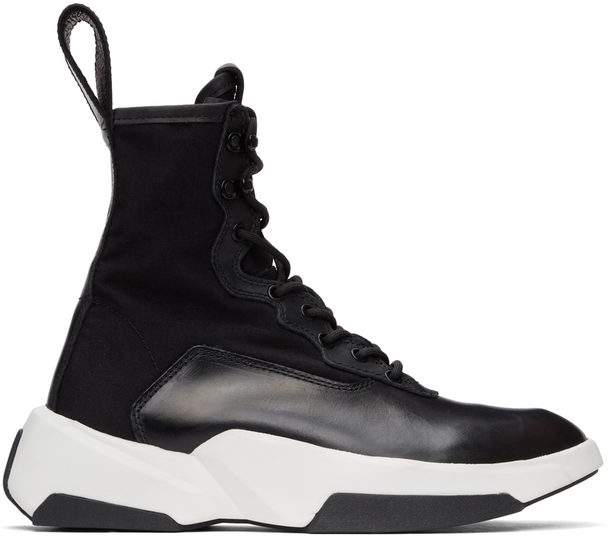 Julius 黑色 Sneaker 踝靴