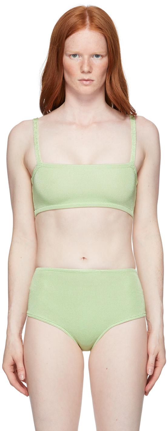 Green Knit Bandeau Bra
