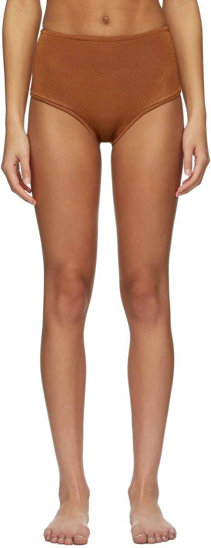 Orange Knit Panty Bikini Bottom