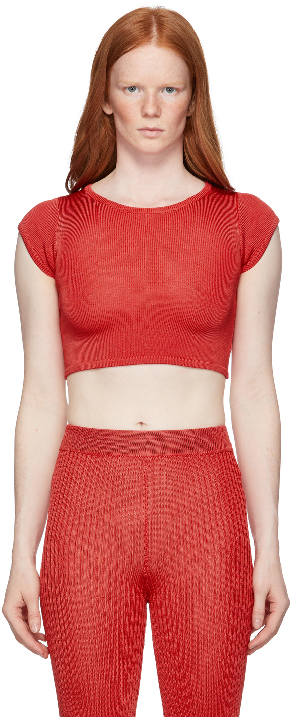 Red Knit Baby T-Shirt