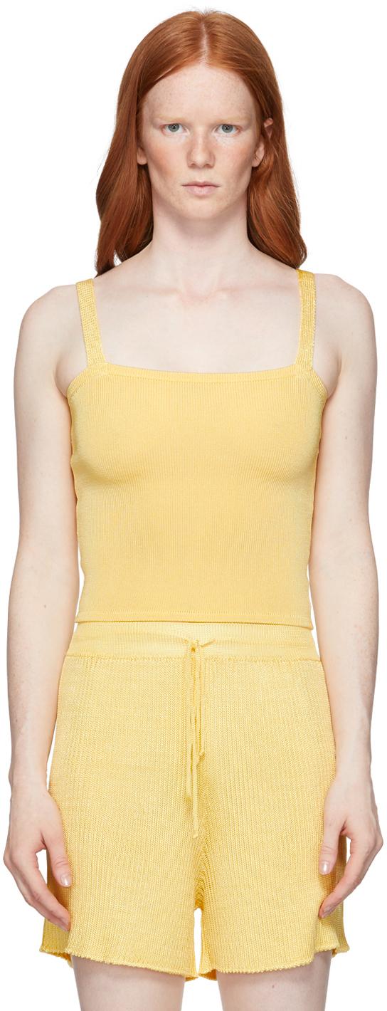 Yellow Knit Tank Top