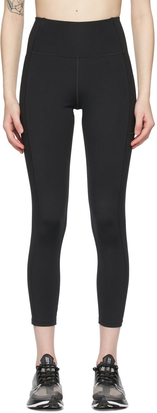 Black High-Rise Pocket Leggings