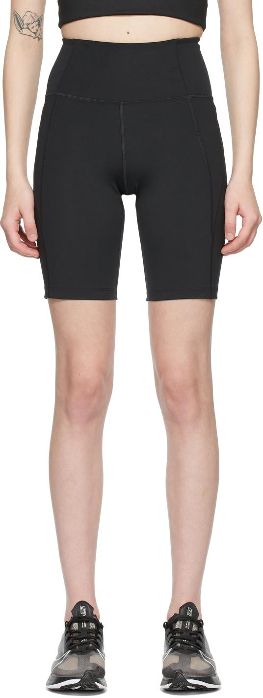 Black High-Rise Bike Shorts