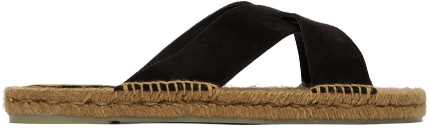 Castañer Black Suede Kant Sandals