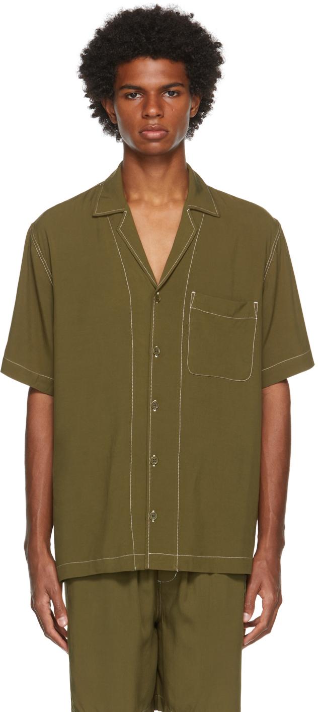 Khaki Pool Short Sleeve Shirt