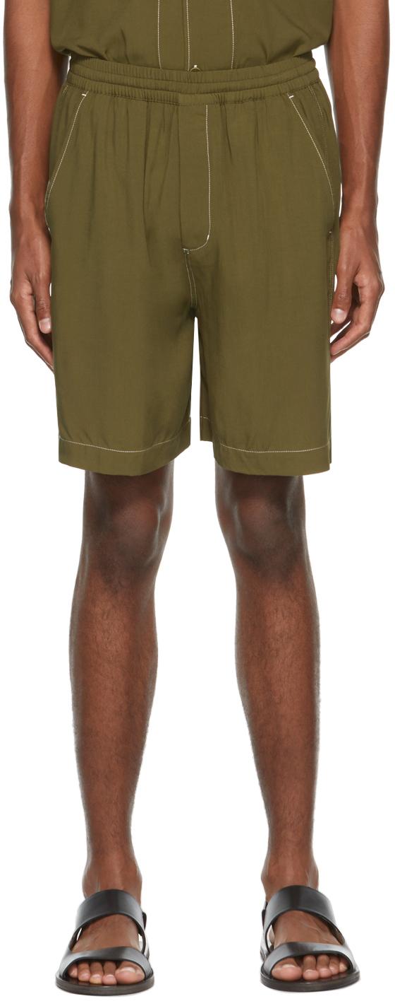 Khaki Pool Shorts