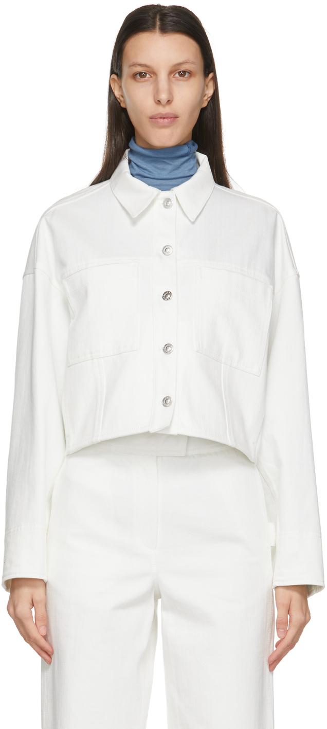 White Wool Oversized Denim Jacket