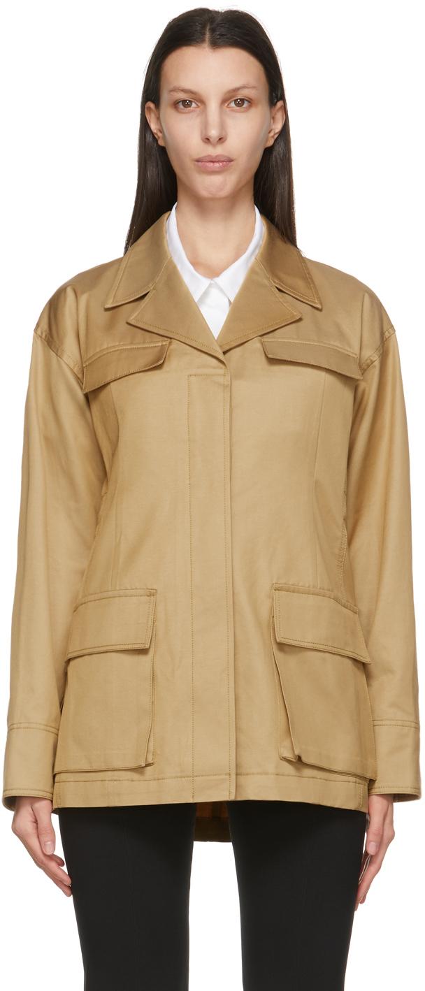 Beige Strap Field Jacket
