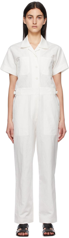 White Linen Jumpsuit