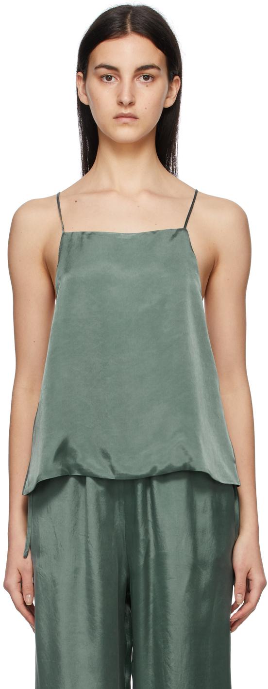 Green Cupro Slip Camisole